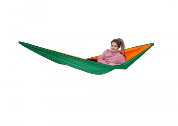 Туристический гамак зелено-оранжевый